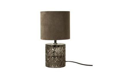 Billede af Bordlampe / Grå glas / 29cm.