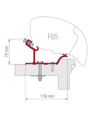 Billede af Adapter til Fiamma F80 & F65