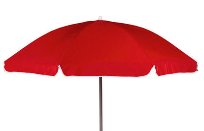 Billede af Parasol Ø: 165 cm. - Rød
