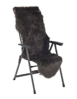 Billede af Pelsskind til stol / relax / drømmeseng - Grå