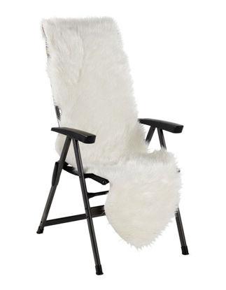 Billede af Pelsskind til stol / relax / drømmeseng - Hvid