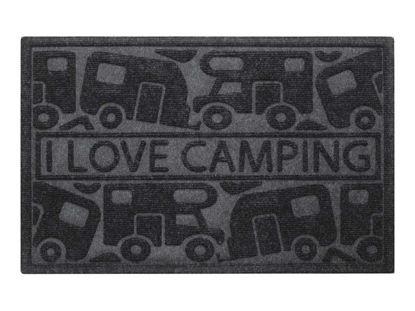 """Billede af Dørmåtte / 40 x 60cm. / """"I Love Camping"""""""
