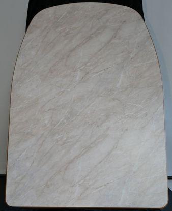 Billede af Bordplade - Marmorfarvet 86 x 120 cm. (Brugt)