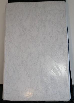 Billede af Bordplade - Marmorfarvet 71 x 114 cm. (Brugt)