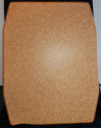 Billede af Bordplade - Lys brun meleret 90 x 70 cm. (Brugt)
