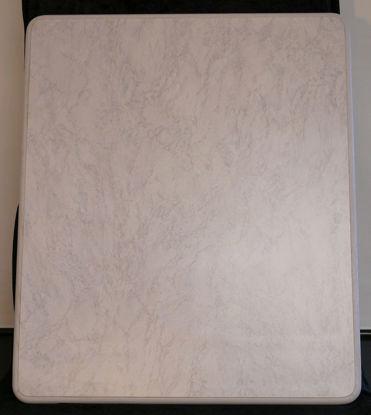 Billede af Bordplade - lys marmorfarvet - 85 x 71 cm. (Brugt)