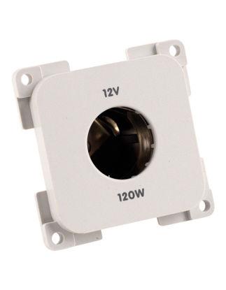 Billede af Stikdåse 12V/120W til stort stik Lysgrå