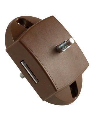 Billede af Lås til toiletdør - 1-punkt / Brun